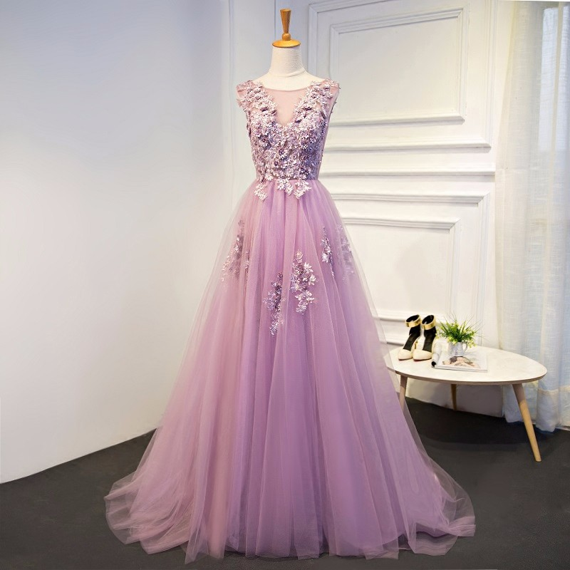 Robe De Soiree New Cheap Gradient Tulle Evening Dress 2017
