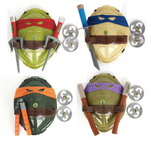 Anime movie Turtles Armor Toy Weapons Leo Raph Mikey DonFigure Cosplay Shell Props for Boy Kids Gifts new turtles armor toy weapons turtles shell children birthday gifts lovely party masks cosplay mask gifts for children