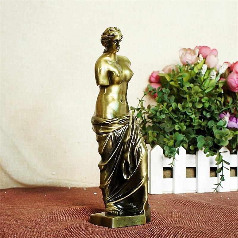 Kovová Venuše Bohyně Umělecká díla Sochařství Socha Figurka a miniatury Řemeslo Ornament Vintage Domácí dekorace Příslušenství