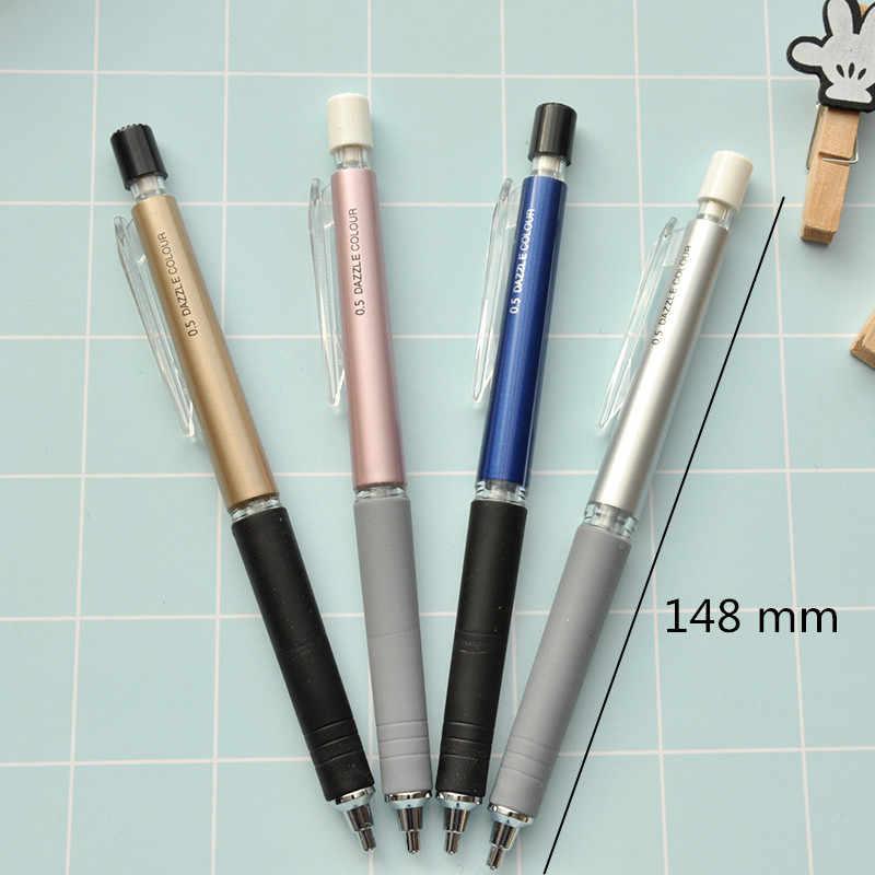 1 stuk 0.5mm & 0.7mm Automatische Opstellen Potlood, Diverse Kleuren Vulpotlood Met Mini Wissen