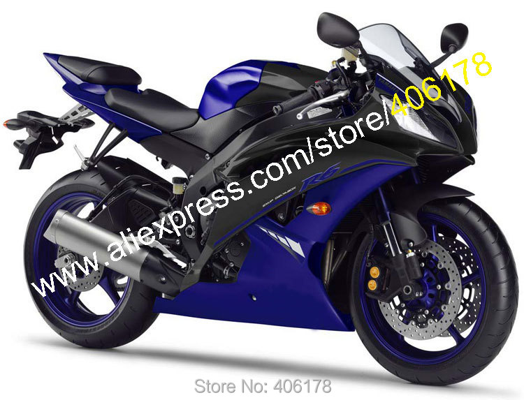 Hot Sales,For Yamaha YZF-R6 2008 2009 2010 2011 2014 2015 2016 YZF R6 YZF600 YZFR6 Blue Black Fairing Kit (Injection molding) hot sales yzf600 r6 08 14 set for yamaha r6 fairing kit 2008 2014 red and white bodywork fairings injection molding