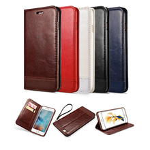 Retro Case for iPhone On 5 5S 5SE 6 6S 7 Plus Luxury Brand Splicing Leather Wallet Stand Cover Case Shell Bags On 6 6s 5s 6P 7P