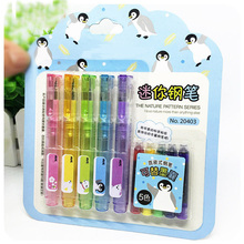 5 pcs/lot Mini Cute Kawaii Colored Fountain Pen Set With Ink Sac Plastic For Writing Office School Supplies Stationery