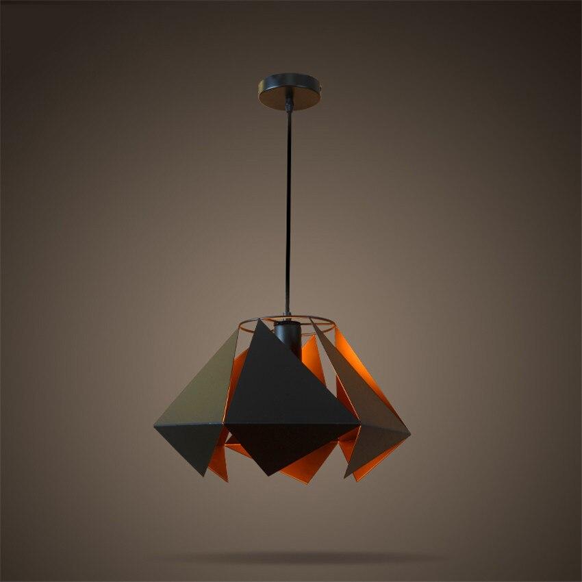 Vintage Black Pendant Light Creative Retro Loft Style Pendant Lamp Hanging Lights Diamond Lamp for Industrial light цена