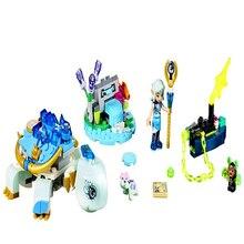 230 Pcs Elf Série Lenaida Tartaruga de Água Modelo Ambulância Building Block Brinquedos Legoe LEPIN 30015 Presente Para Crianças Compatível 41191