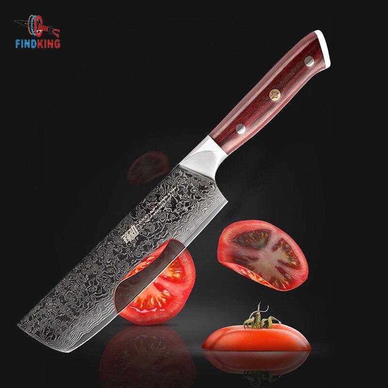 Findking AUS 10 다마스커스 강철 자단 손잡이 다마스커스 칼 6.5 인치 요리사 칼 67 층 nakiri cleaver-에서주방 칼부터 홈 & 가든 의  그룹 1