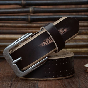 Image 2 - COWATHER 2019 high quality cow genuine leather luxury strap male belts for men new fashion style pin buckle free shipping