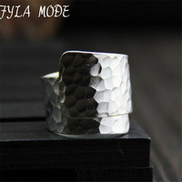 S999 999 Fine Jewelry Silver Open Ring Male Pure Silver Vintage Finger Ring Party Birthday Gift