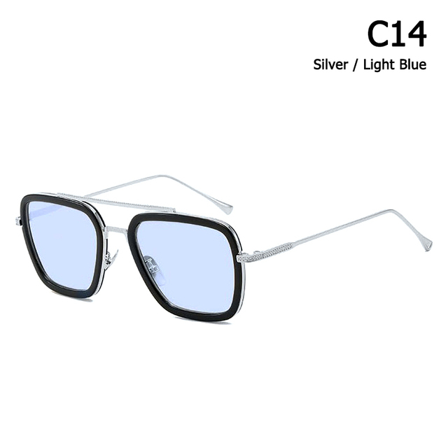 JackJad 2020 Fashion Avengers Tony Stark Flight 006 Style Sunglasses Men Square Aviation Brand Design Sun Glasses Oculos De Sol