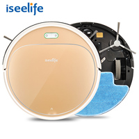 ISEELIFE 1300PA Smart Robot Vacuum Cleaner 2in1 For Home Dry Wet Water Tank Brushless Motor Intelligent