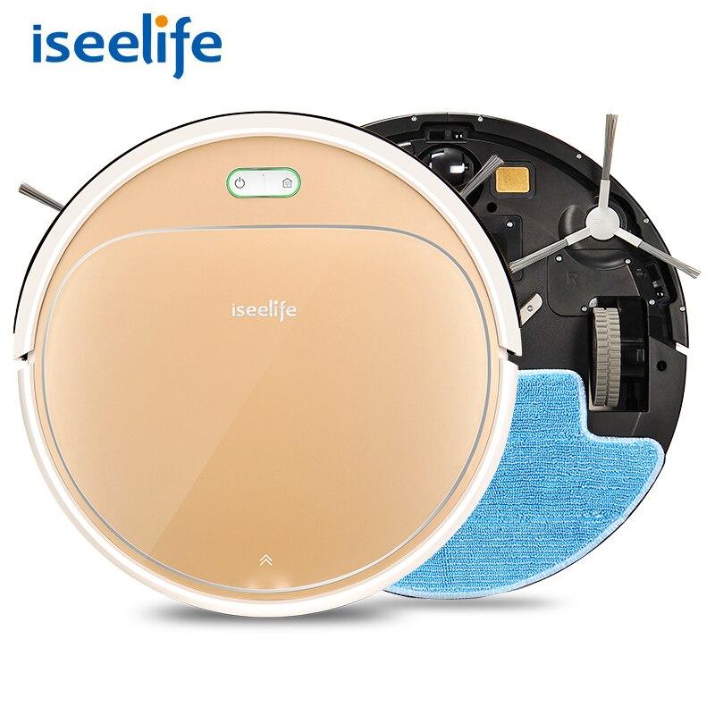 ISEELIFE 1300 PA робот-пылесос Smart 2in1 для дома сухой мокрой бак для воды бесщеточным Мотором умный робот ASPIRADOR