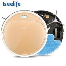 2w1 ISEELIFE 1300 PA Inteligentny Robot Odkurzacz do Domu Suchej Mokrej Wody Zbiornika ASPIRADOR bezszczotkowy Inteligentny ROBOT Czyszczący