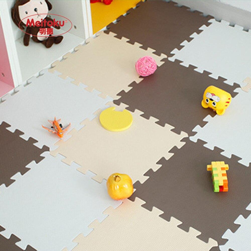 Tapis de Puzzle de jeu de mousse d'eva de bébé de Meitoku pour des enfants/tapis de tapis de plancher de tuiles d'exercice de verrouillage, chacun 32X32 cm, 18 ou 24pc dans un sac - 4