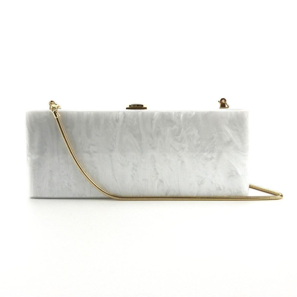 85161da3cf US $28.69 18% OFF|25X10 Cm Long Size Black Fabric Snake Chain Acrylic  Clutch Box Bag Women Shoulder Messenger Evening Purse Wallet Drop  Shipping-in ...