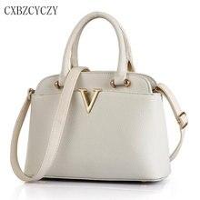 Luxus-handtaschenfrauen-designer Schulter Crossbody-tasche Weibliche PU Leder Messenger Bags Shell Tasche Weiß Bolsa Feminina