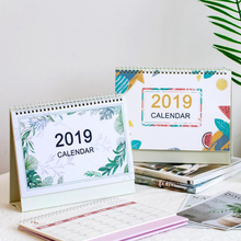 1 Pcs Simple 2019 Year Cherry Blossoms/Plants Fresh Calendar Desk Standing Paper Calendar Stationery Organizer Schedule Planner