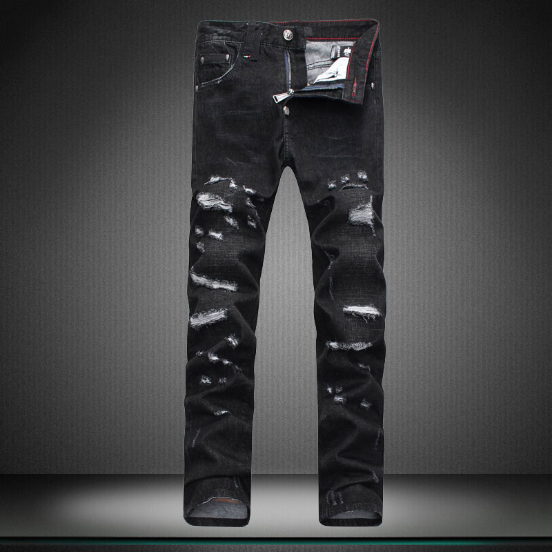 brand of pants trousers designer boy jeans Little feet pants hole straight