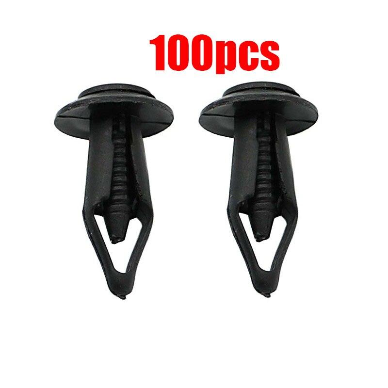 40/50/60/100 Pcs 6MM M6 Plastic Rivet Fastener Screw Bolt Clips Fender Hood Body Pin Kit For Yamaha Rhino 450 660 700 All Year