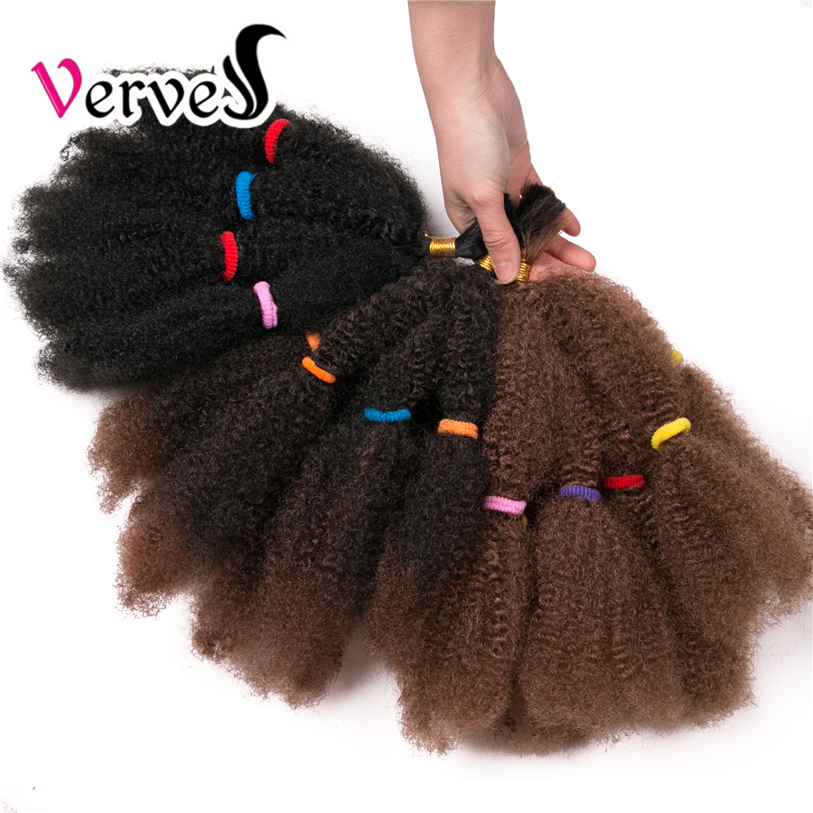VERVES Culry Crochet Braids Hair Extensions 12 Inch,Synthetic Ombre Braiding Hair Afro Kinky Bulk Twist Braids Black,brown,bug