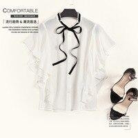 OC0622107 Для женщин блузки 2018 Новая мода Европейский леди летняя блузка и пуговицы плюс размер свободную рубашку женская блузка Vestidos
