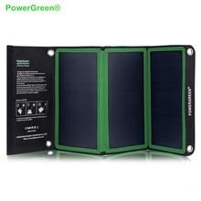 PowerGreen Folding Solar Charger 21W SUNPOWE Solar Panel Portable Solar Power Bank for Phone
