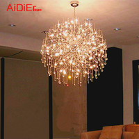 LED ball chandelier creative spark fireworks light the stars chandelier modern minimalist living room bedroom lamp restaurant