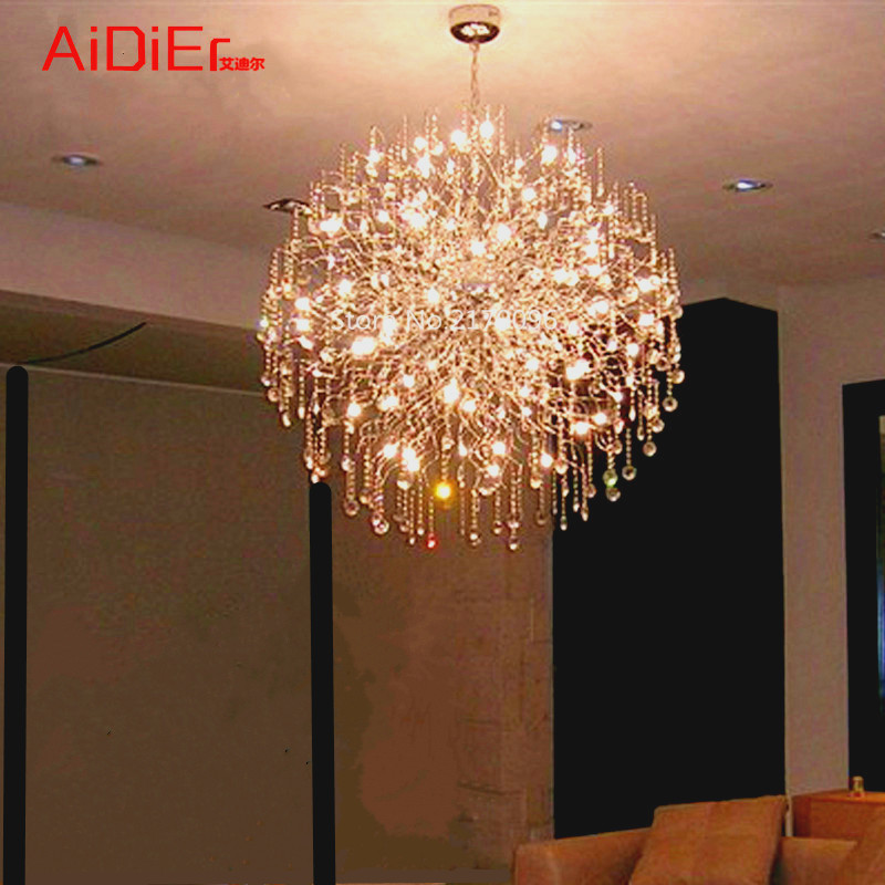 Creative personality LED chandelier fireworks round hotel bar restaurant mall spark large lamps ArtCreative personality LED chandelier fireworks round hotel bar restaurant mall spark large lamps Art