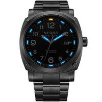 NEDSS Тритий часы мужские часы лучший бренд Luxury Swiss H3 автоматические часы военные часы 50 м водонепроницаемый световой для 25 лет
