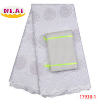 African Swiss Voile Lace Swiss Voile Lace In Switzerland High Quality 2018 White Asoebi African Dresses For Women NA1793B 1