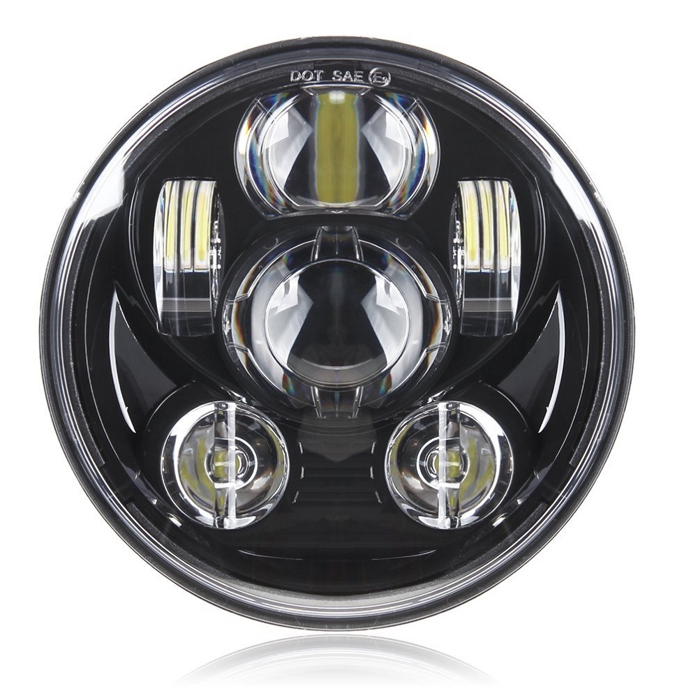 5.75 Inch LED Headlight HighLow Beam 5 34'' LED Headlamp Driving Light for Harley Motorcycle Projector Headlight (21)