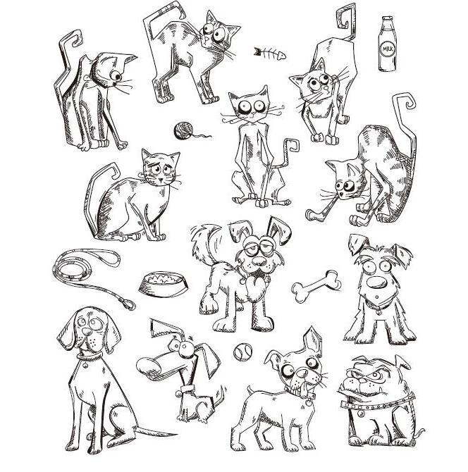 caes-e-gatos-dos-desenhos-animados-de-silicone-transparente-claro-selo-selo-diy-Album-scrapbooking-foto-decorativa-selo-clara