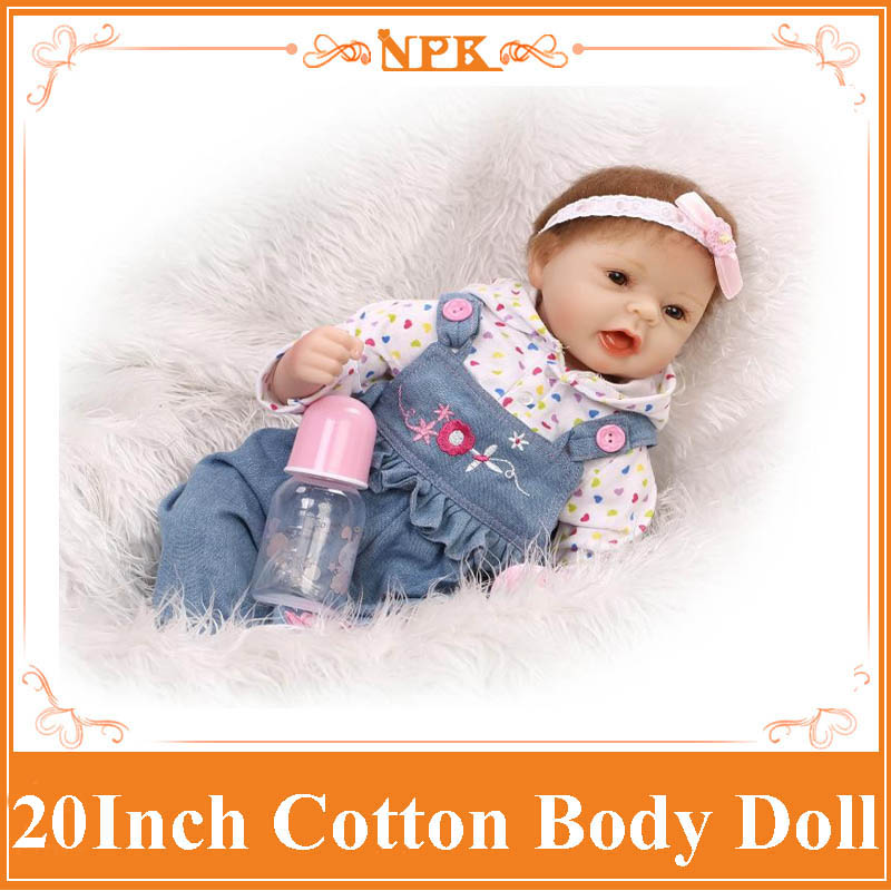 Happy Smile 52cm Beneca Bebe Reborn With Fashion Cowboy Bid Hot Silicone Baby Doll Best Early Enducational Doll Birthday Gift navy monkey with smile