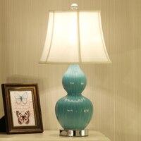 Chinesische keramik tischlampe nachttischlampe einfache Europäischen wohnzimmer einfache warme klassische dekorative tischlampe ZA623 ZL168