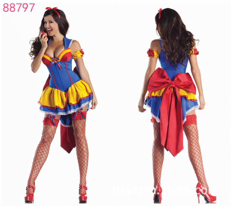Free Shipping Teen Fairytale Snow White Costume Sexy Adult Cosplay Exotic Apparel Halloween Costume for Women 0101058-in Anime Costumes from Novelty ...  sc 1 st  AliExpress.com & Free Shipping Teen Fairytale Snow White Costume Sexy Adult Cosplay ...