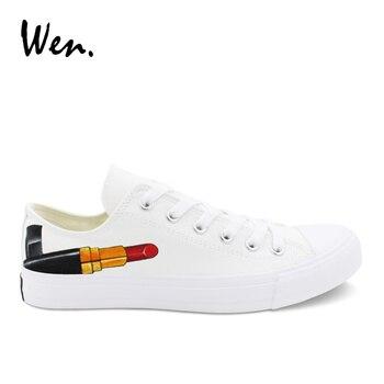 Wen Rahat Erkek Ayakkabı Tasarım Kırmızı Ruj El Boyalı Ipli Ayakkabı