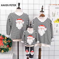 Sweater Christmas Family Matching Clothes Santa Claus Sweater Parent Child Outfit Long Sleeve Jacket Winter Warm