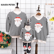 Sweater christmas Family matching clothes santa claus sweater Parent-child outfit Long Sleeve jacket winter warm coat