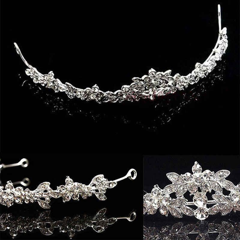 Moda nupcial boda graduación dama de honor flor cristal diadema Tiara verano joyería regalo bonito vestido Accesorios