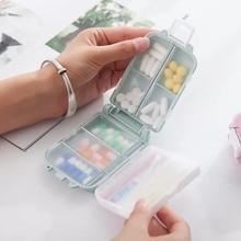 Pill Box Wheat Sealed 10 Grids Container Organizer Health Care Drug Travel Divider Mini Portable 7 Day Case