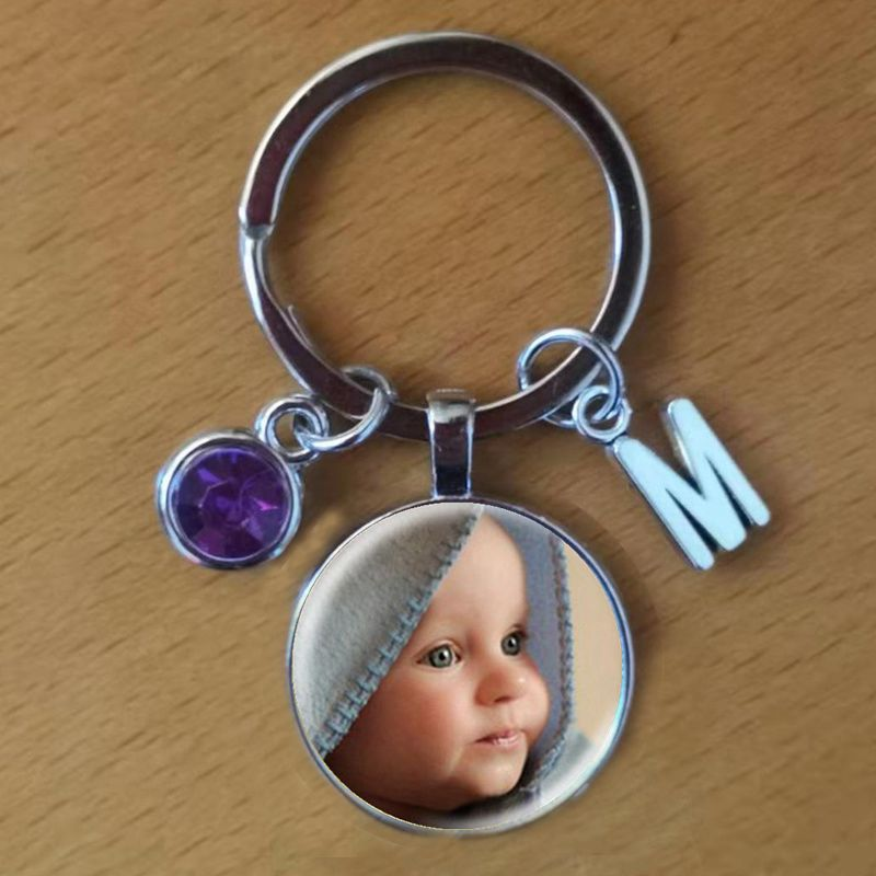 Personalized Photo Pendants Custom Keychain Photo Of Your Baby Child Mom Dad Grandparent Loved One Gift For Family Member Gift