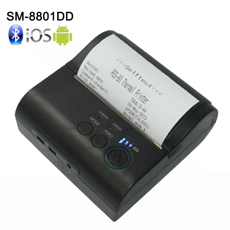 Free SDK 80mm Mobile Portable Thermal Receipt Printer Android Bluetooth Printer Mini Android Printer Support Android,IOS,PC cheap 80mm portable usb thermal printer with free android ios sdk mobile bluetooth ticket printer for pos impressora termica