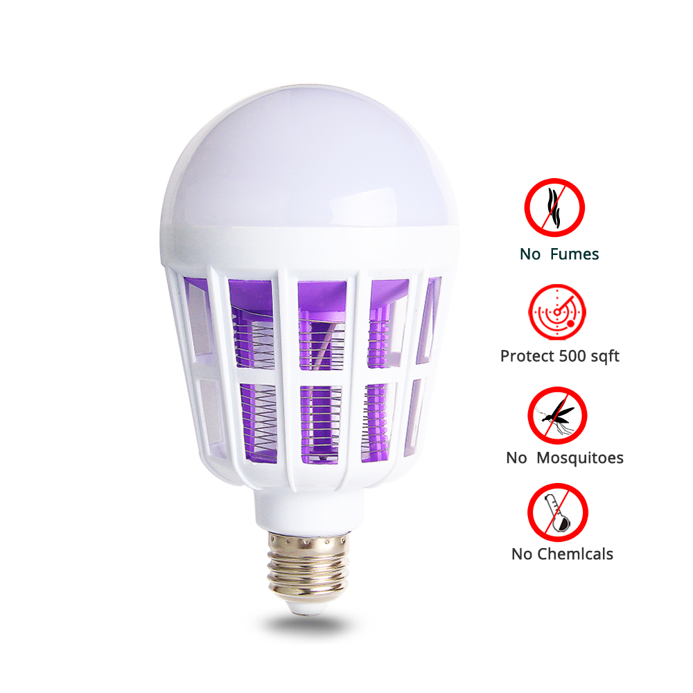 LED Bulb E27 Mosquito Killer Lamp Anti-Mosquito Insect Zapper Flying Moths Killer Light Trap For Mosquito Lamp Kill Mosquitoes