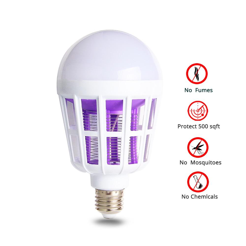 LED Bulb E27 Mosquito Killer Lamp Anti-Mosquito Insect Zapper Flying Moths Killer Light Trap for Mosquito Lamp Kill Mosquitoes of moths