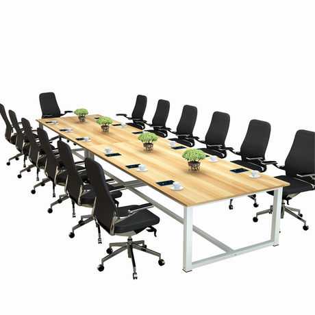 US 14 OFF Conference Table Office Furniture Commercial Furniture Modern Panel Steel Office Desk Can Customize Size Multi Size High End New