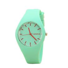 Fashion Unisex Geneva Watches Women man Sports Ultralight Fashion Silicone Strap Wristwatch relojes deportivos esportivo