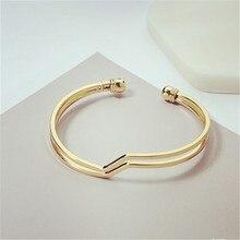 Simple fashion geometric streamline wavy joker bangle bracelets students Men exaggerated  Bracelets sell like hot cakes