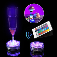 Wireless Remote Control Led Multi Color Spotlight Underwater Multi Color Submersible 10 LED Light Waterproof Party