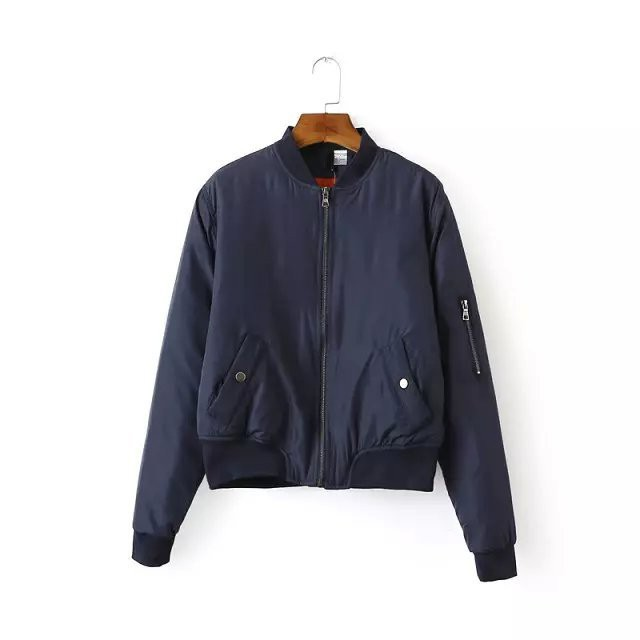 Thin Padded Bomber Jacket Pilots