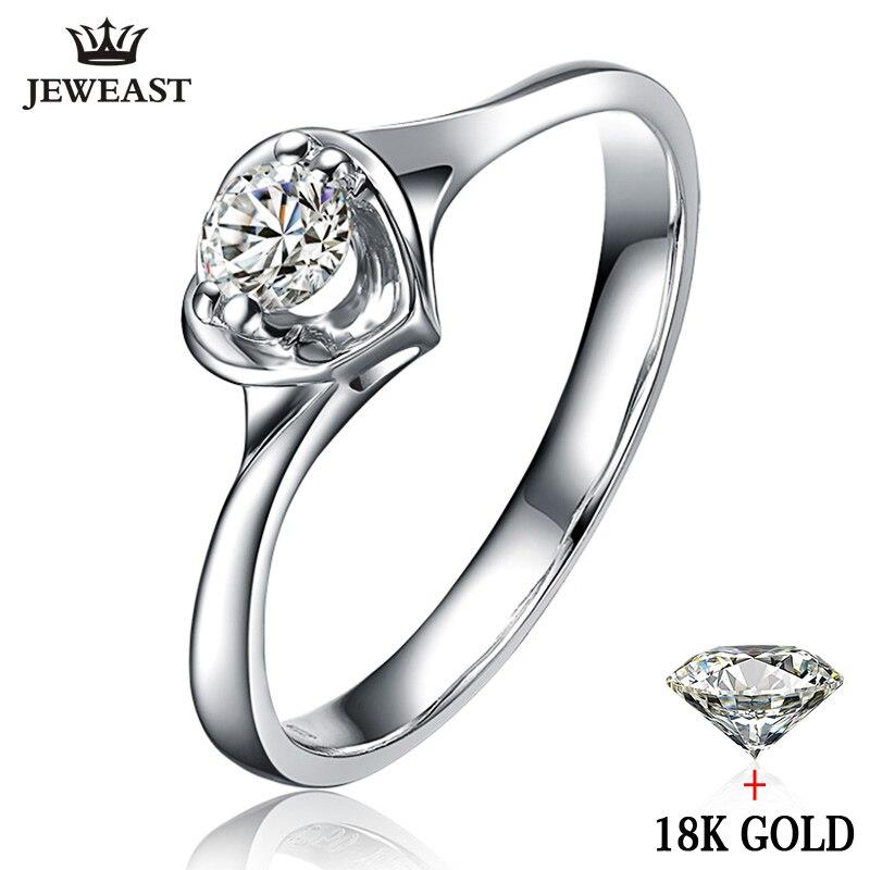 Natuurlijke diamond Ring 18 k Gold Bruiloft Vrouwelijke Voorstellen Engagement Anniversary Custom 2017 Nieuwe Hot Koop Vrouwen 100% Goede Party