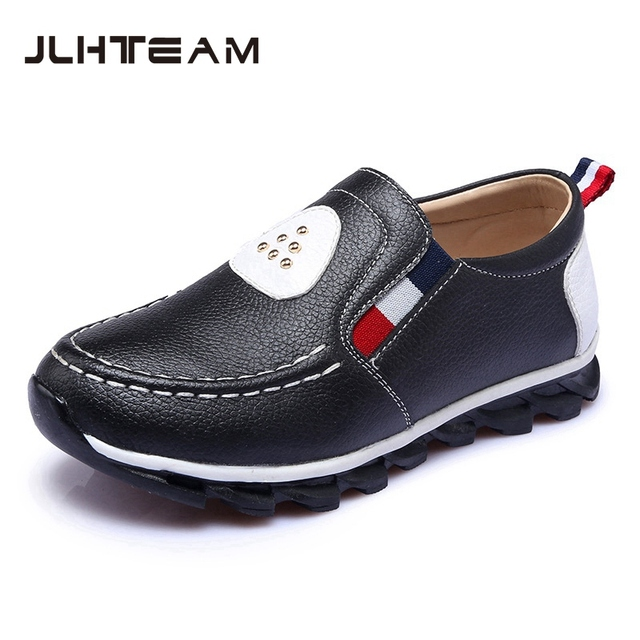 Children Boys School Shoes Low-heeled Genuine Leather Loafers Boys Wedding Shoes Waterproof Comfortable Boys Dress Moccasins